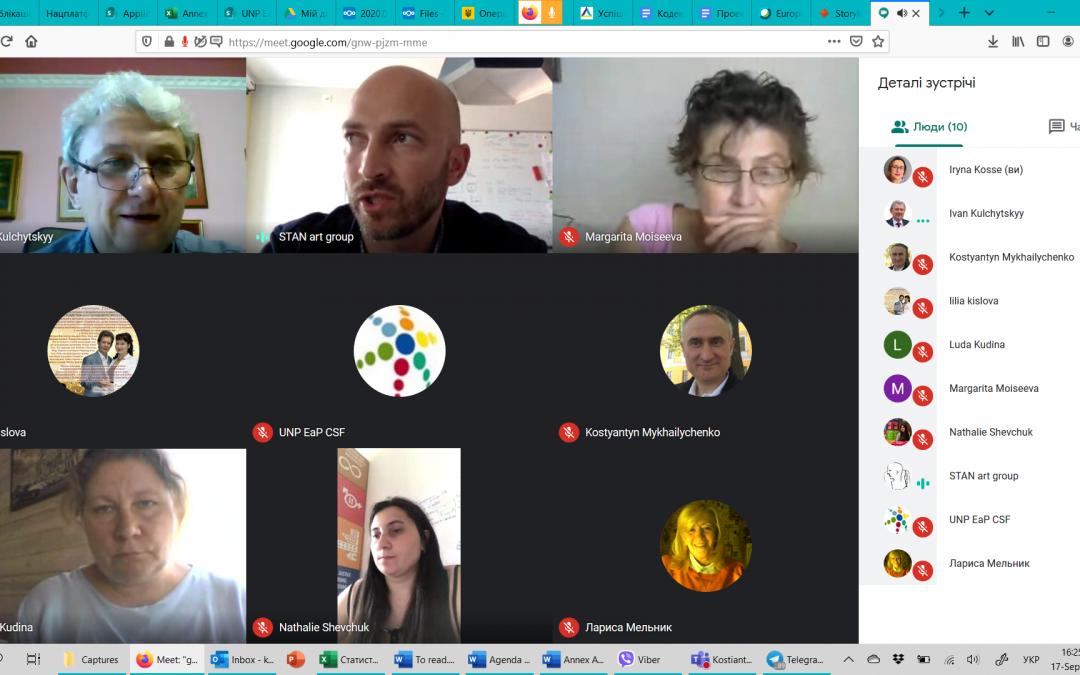 17 вересня 2020 року в онлайн режимі відбулось засідання РГ4 «Контакти між людьми» УНП СхП