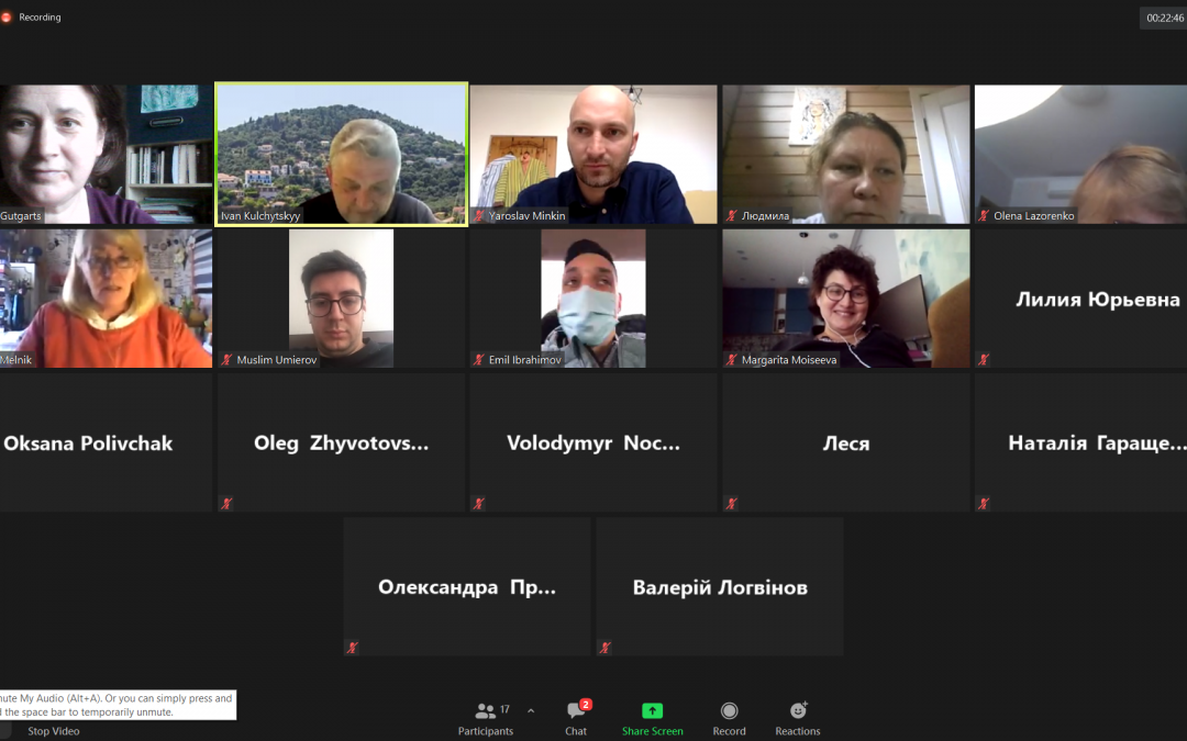 Відбулося спільне онлайн засідання РГ4 УНП СхП та РГ6 УС ПГС, 15 квітня  2021 року