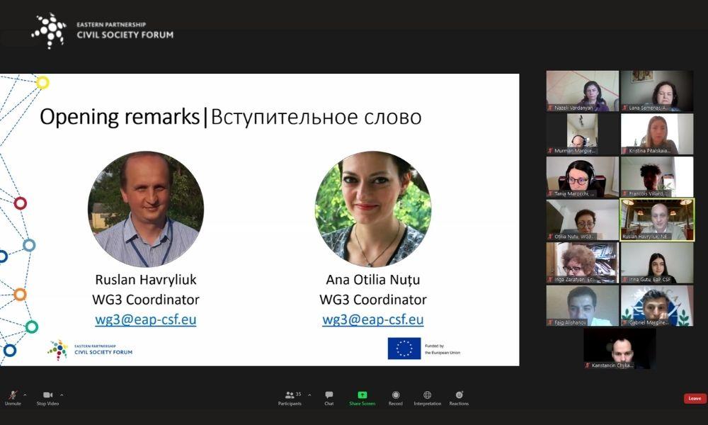 Відбулося онлайн засідання РГ3 ФГС СхП, 17-19.05.2021